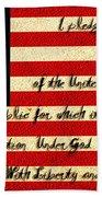 The Pledge Of Allegiance Beach Towel