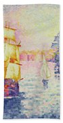 The Port Of Marseilles Beach Towel