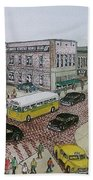 The Portsmouth Ohio Post Office On The Esplanade 1948 Beach Towel