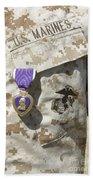 The Purple Heart Award Hangs Beach Towel by Stocktrek Images