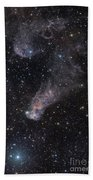 The Question Mark Nebula In Orion Beach Towel