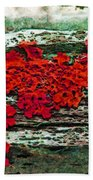 The Red Clouds Beach Towel