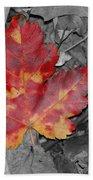 The Red Leaf Beach Towel