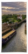 The River Thames At Goring Beach Towel