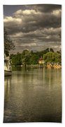The River Thames At Streatley Beach Towel