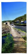 The River Valency At Boscastle Beach Towel