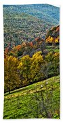 The Road To Glady Wv Painted Beach Towel