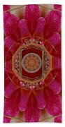 The Sacred Orchid Mandala Beach Towel