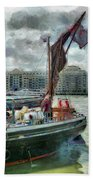 The Sailing Barge Lady Daphne Beach Towel