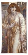 The Salutation  Beach Towel by Dante Charles Gabriel Rossetti
