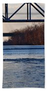The Schuylkill River At Bridgeport Beach Towel