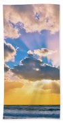 The Sea In The Sunset Beach Towel