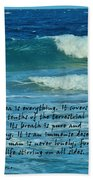 The Sea Poster Beach Towel