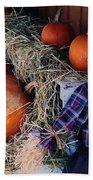 The Shy Pumpkin-man Beach Towel