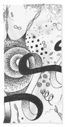 The Silent Dance Of The Particles Beach Towel