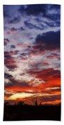 The Sky Is On Fire  Beach Towel