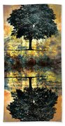 The Small Dreams Of Trees Beach Towel by Tara Turner