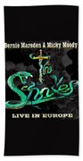 The Snakes Live In Europe Beach Towel