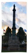 The Soldiers And Sailors Monument In Lafayette Square  Beach Towel