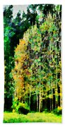 The Speckled Trees Beach Towel