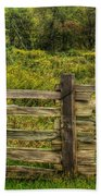 The Split Rail Meadow Beach Towel by Benanne Stiens