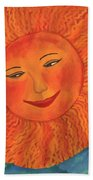 The Sun God Detail Of Red Sky At Night Beach Towel
