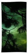 The Sun Through Clouds And Branches  Beach Towel