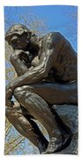 The Thinker By Rodin Beach Towel