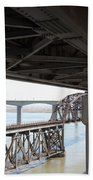 The Three Benicia-martinez Bridges In California - 5d18844 Beach Towel