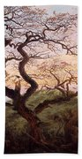 The Tree Of Crows Beach Towel by Caspar David Friedrich
