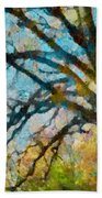 The Tree Of Many Colours  Beach Towel