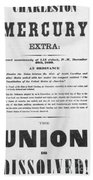 The Union Is Dissolved, 1860 Broadside Beach Towel