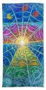 The Web Of Wyrd Beach Towel by Diana Haronis
