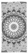 The White Mandala No. 2 Beach Towel