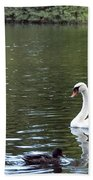 The White Swan Beach Towel