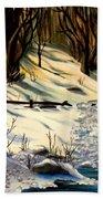 The Winter Trail Beach Towel