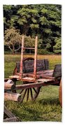 The Wooden Cart Beach Towel