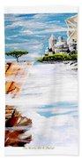 The World On A Platter  Beach Towel