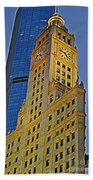 The Wrigley Building Beach Towel