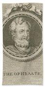 Theophrastus, Ancient Greek Polymath Beach Towel by Science Source