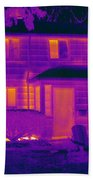 Thermogram Of A Home In Winter Beach Towel