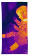 Thermogram Of A Young Girl Beach Towel