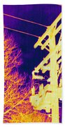 Thermogram Of Electrical Wires Beach Towel by Ted Kinsman