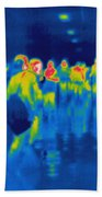 Thermogram Of Students In A Hallway Beach Towel