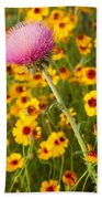 Thistle And Coreopsis 2am-110455 Beach Towel