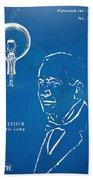 Thomas Edison Lightbulb Patent Artwork Beach Towel