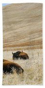 Three Bison Beach Towel