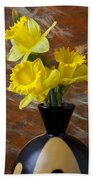 Three Daffodils Beach Towel