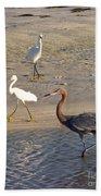 Three Egrets Beach Towel