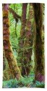 Through Moss Covered Trees Beach Sheet